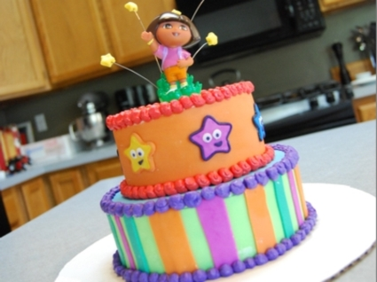 Sports Birthday Cakes on Myjuicecup    Dora The Explorer Cake