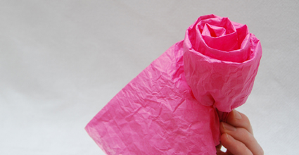tissue rose tutorial