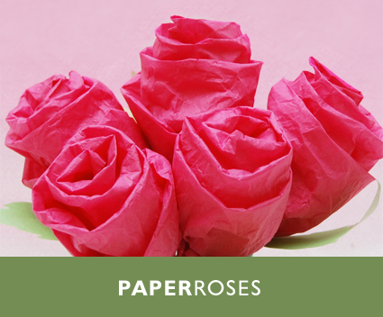 How to make roses out of tissue paper step by step