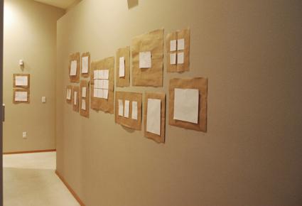 Hanging collage frames