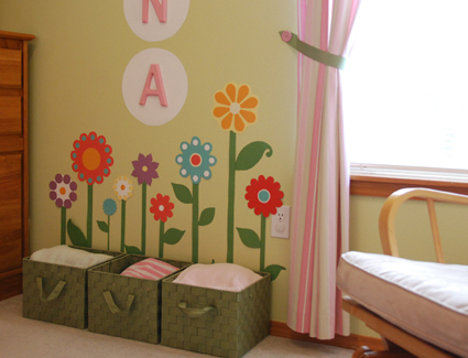 Flowers for a girls room