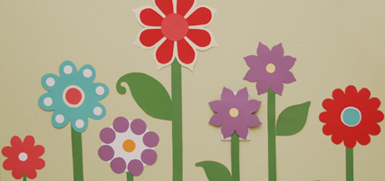 Paper Wall Flowers for Girls Room