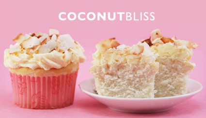 Soft tender coconut cupcakes