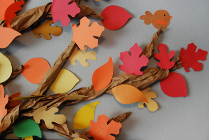 Fall kids room decoration