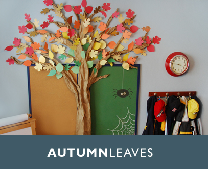 Fall decorations tree