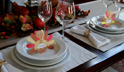 Thanksgiving cards and place setting cards