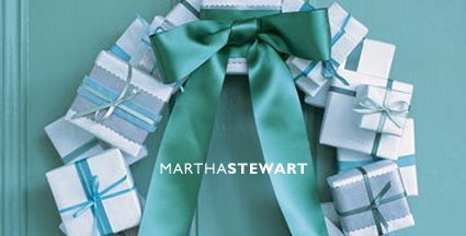 Martha Stewart present wreath
