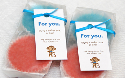 Monkey baby shower favor ideas