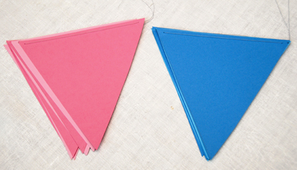 Pink and blue pendant baby shower decorations