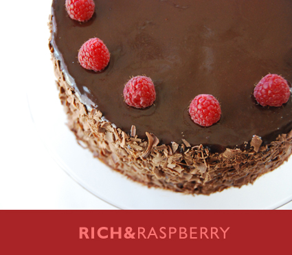 Raspberry laced chocolate layer cake recipe