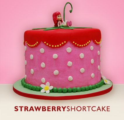 Strawberry short cake girls birthday cake design