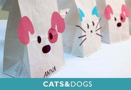 cats and dogs for a great child birthday party idea